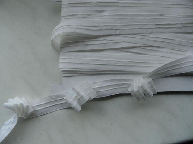 18m Kräuselband weiß 25mm breit Faltenband Gardinenband Reihband