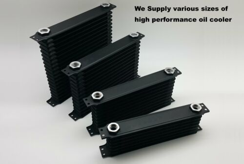 10 Exchangeable 10 Rows Black Racing Engine Oil Cooler Port Fittings AN