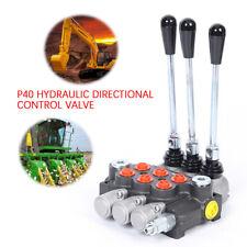 3p40 3 Spool Hydraulic Directional Control Valve 13gpm 250bar 60lmin Brand New