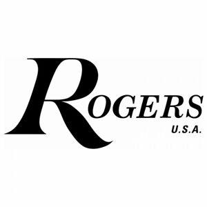 Vinyl logo 7/'/' Chrome logo sticker decal for bass drum Rogers USA Drums