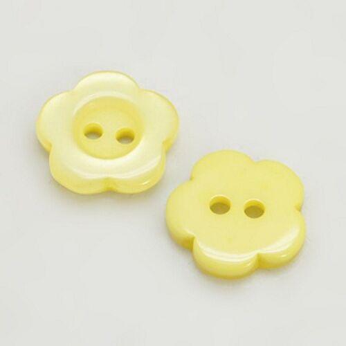 12 Stück Resin Knöpfe Blume Knopf Button Kunststoff Buttons Kinderknopf Bluse