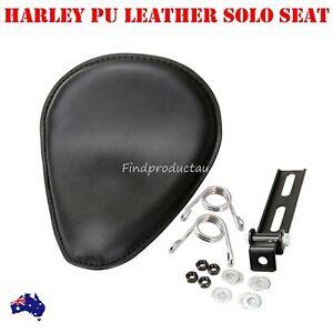 Solo-Seat-3-1-034-Torsion-Springs-Black-Bracket-Harley-Sportster-Bobber-chopper