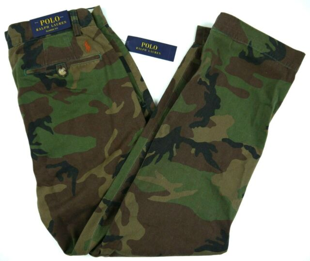 5c340bcbcaf46 NWT POLO RALPH LAUREN BDU CAMO CHINO pants classic fit 30x30 34x34 32x30  36x34
