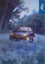 Ford Ka 2 Blue 1998 Original UK Single Sheet Sales Brochure Pub. No.SP2030