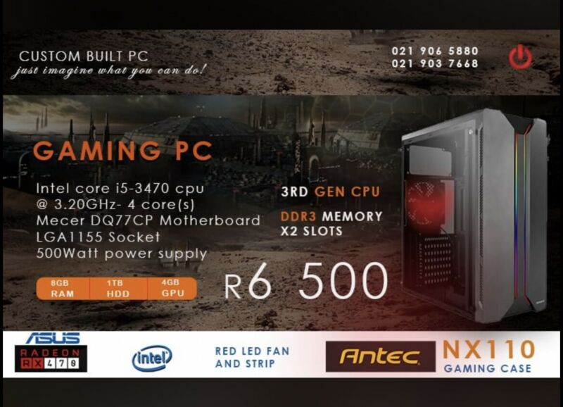 Gaming tower for R6500