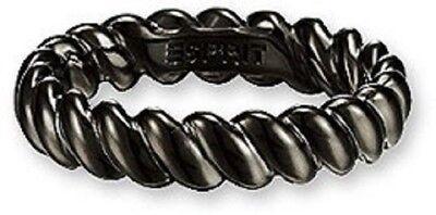 Esprit Damenring Perfect Twist black ESRG 91123.C18 Silberring schwarz Gr 18