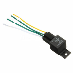 Car Auto DC 12V Volt 30/40A Automotive 4 Pin 4 Wire Relay & Socket  Pin Volt Relay Wiring on yl 388 s relay, 4 prong relay, 60 amp 12 volt relay, 4 pin 28 volt relay, 4 pole 12v relay, 12 volt 30 amp relay, 12v 30a relay, wire 12 volt relay, 5 pin 12 volt relay, 12 volt latching relay, 40 amp relay, 24 volt relay, 12 volt 50 amp relay,