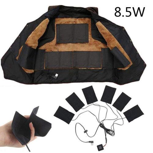Car USB Electric Heated Jacket Heating Pad Warm Winter For DIY Heated Clothing
