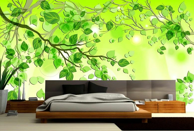 3D Grün leaves 151 WallPaper Murals Wall Print Decal Wall Deco AJ WALLPAPER