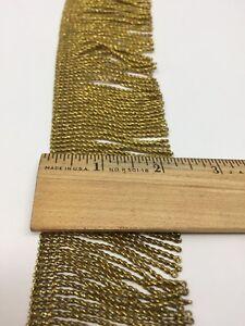 Vintage-Oro-Metalico-Flecos-para-Vestment-Capa-Nuevo-Viejo-Stock-5-7cm-Raro