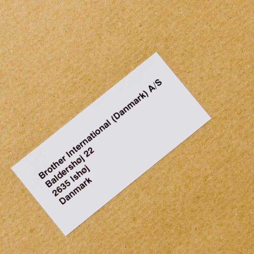 Brother DK22225 Endlosetiketten Papier 38mm x 30.48m weiß Selbstklebend NEU