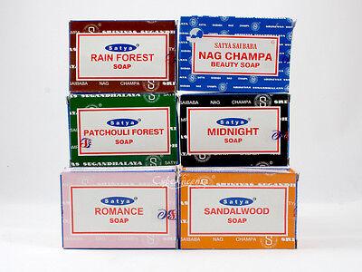 Satya Nag Champa Natural Soap Bars (75 Gram): Patchouli, Sandalwood, Midnight...