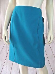 Halogen-Skirt-10P-Nordstrom-Blue-Turquoise-Poly-Viscose-Spandex-Short-Pencil-New