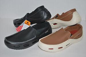 NWT-CROCS-TIDELINE-SPORT-LEATHER-HAZELNUT-BROWN-BLACK-7-mens-shoes-LAST-PAIR