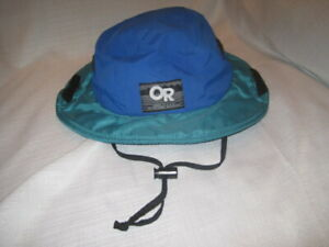 512e8d646 Details about Vintage Outdoor Research Gore-Tex Waterproof Hat men's L blue  green Made in USA