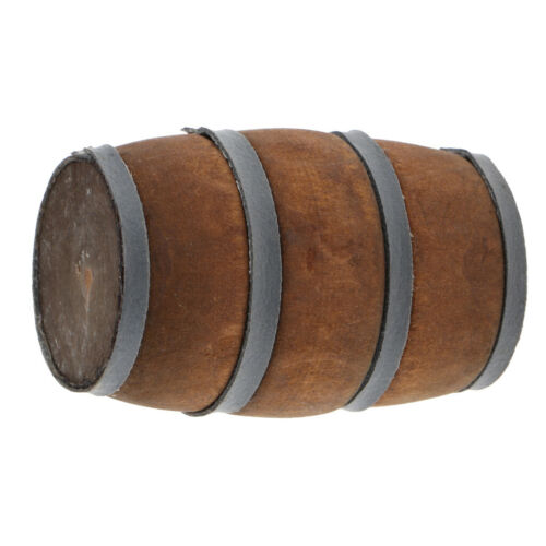 1:12 Scale Dollhouse Miniature Furniture Mini Wooden Wine Barrel Bucket Toy