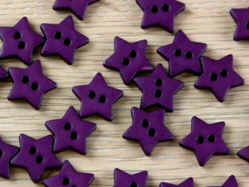 Dill-289047-M Dill Star Shape 2 Hole Plastic Buttons