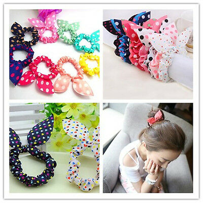 New Lovely 10pcs Rabbit Ear Hair Band Girls & Kids Head Wrap Floral Headband