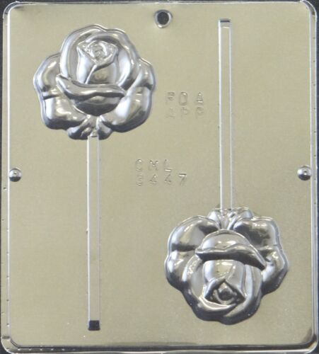 Rose Lollipop Chocolate Candy Mold 3447 NEW