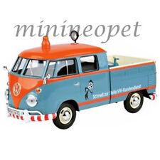 MOTORMAX 79555 VW VOLKSWAGEN TYPE 2 T1 DOUBLE CAB PICK UP TRUCK 1/24 BLUE ORANGE