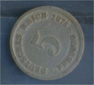 German-Empire-Jagerno-3-1875-B-very-fine-Copper-Nickel-1875-5-Pfennig-7848903