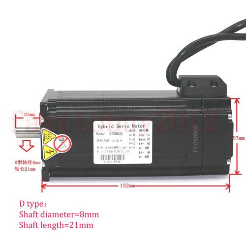 428Oz-in Closed Loop Stepper Motor Nema23 3NM Servo Driver 200W Power Supply Kit