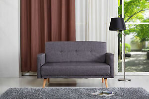 Image Is Loading Milla 2 Seater Sofa Small Settee Modern Retro