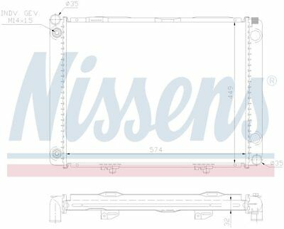 Front Radiator Nissens 2015008603A For Mercedes W201 190D 1986 1987 1988 1989