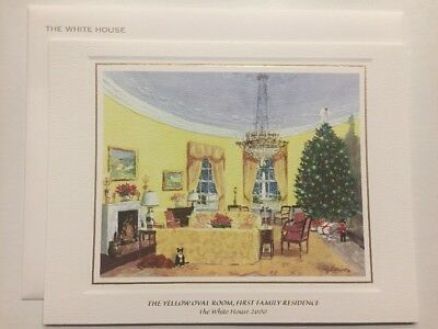 Collectible Signed Authentic Clinton White House Christmas Card 1993 Large Color Photo with Envelope