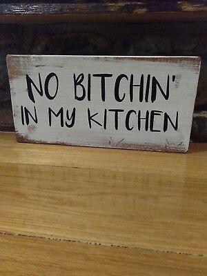 Kitchen Sign Rustic Home Decor Hand Made Farmhouse Primitive Humor Funny Chic Ebay