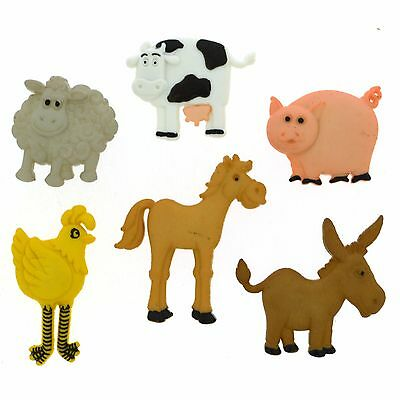 FARM ANIMALS COUNTRY CRITTERS 4678 Crafts Jesse James Buttons ~ Dress It Up