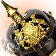 German Leather Pickelhaube Prussian Helmet Imperial Officers Garde Baden Replica