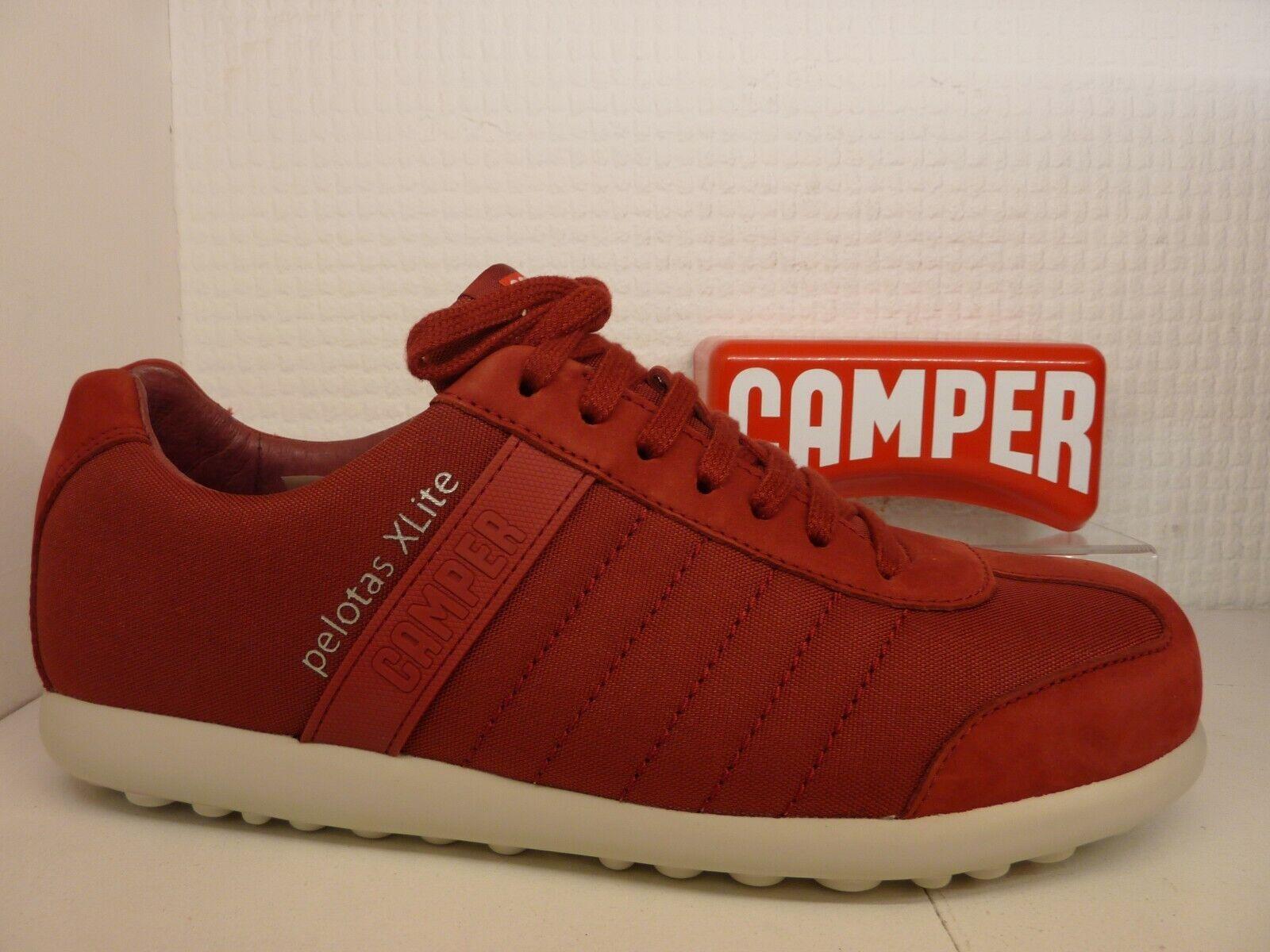 Camper pelotas xl 18302-111 Rubi Rojo de cuero de lona hombre entrenador Comodidad Zapato