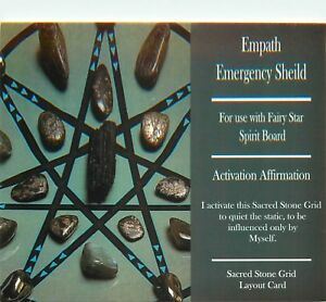 EMPATH-EMERGENCY-SHIELD-Grid-Card-4x6-034-Heavy-Cardstock-For-Use-with-Crystals