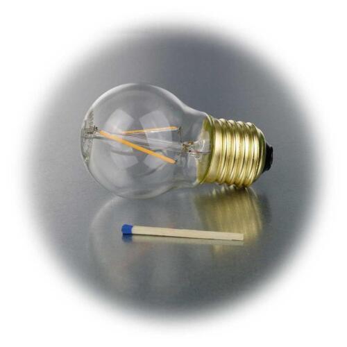 5 x E27 Filament LED Leuchtmittel Birne EXTRA warmweiß 2100K 120lm Glühbirne