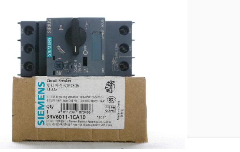 1pc    Siemens  3RV6011-1CA10  1.8-2.5A  circuit  breaker  free shipping