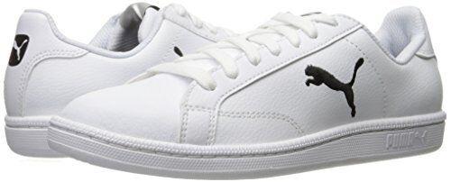 Gato Puma Smash L para hombre blancoo Negro De Cuero Zapatos