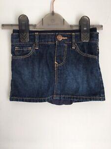 GAP Baby Girls indigo blue denim jean skirt 100% cotton age 12-18 months 1-1.5yr