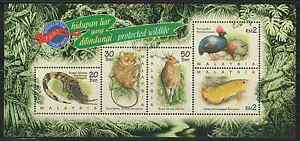 218M-MALAYSIA-1997-STAMP-WEEK-PROTECTED-WILDLIFE-MS-FRESH-MNH-CAT-RM-15