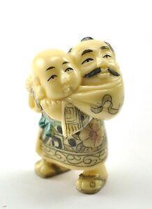 vintage chinese japanese kung fu shaolin respect elderly monk resin figurine ebay. Black Bedroom Furniture Sets. Home Design Ideas