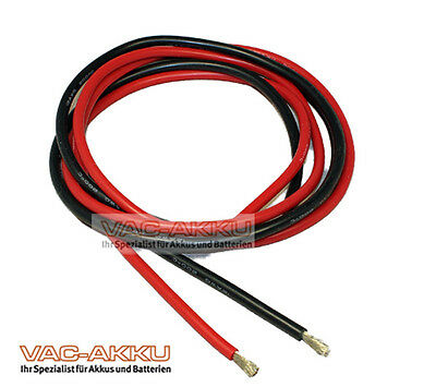 2,5 Mm² Qmm Silikonlitze / Silikonkabel 5m Rot / Schwarz Vorteilspack 5m ! 14awg Modischer (In) Stil;