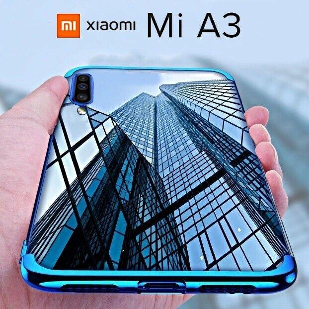 COVER per Xiaomi Mi A3 CUSTODIA ELECTRO CASE + PELLICOLA VETRO TEMPERATO 9H