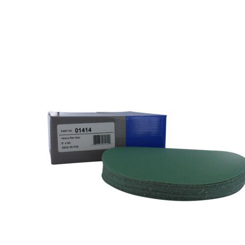 """Sunmight 01414 6/"""" 320 Grit No Hole Film Sanding Discs 50 Pieces"""
