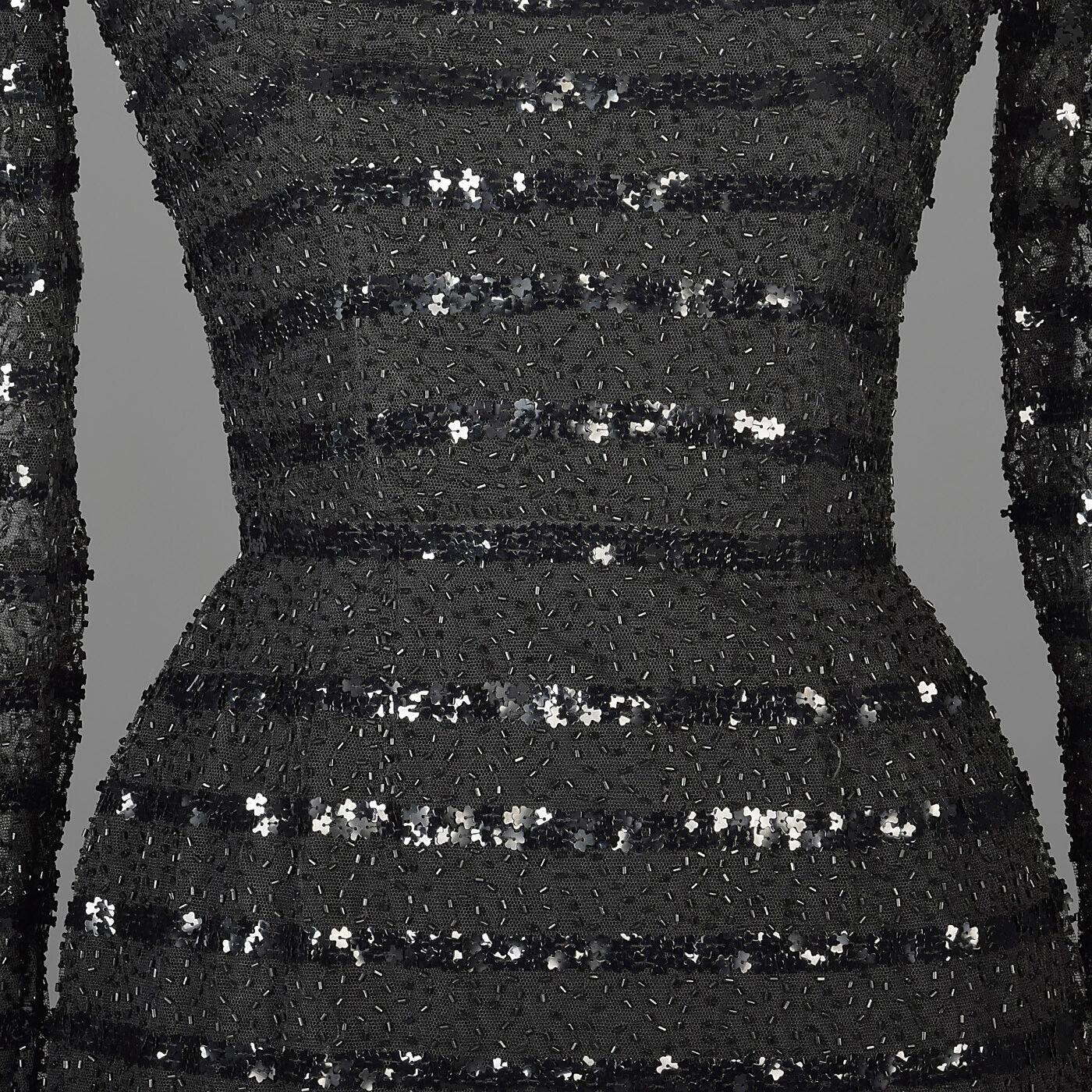 XXS Vintage 1960s 60s Ceil Chapman Long Sleeve Se… - image 3