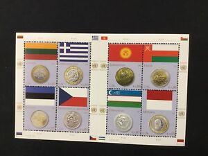 100% Vrai Nations Unies Vienne Feuillet Timbres Neufs 2011 Drapeaux Et Monnaies