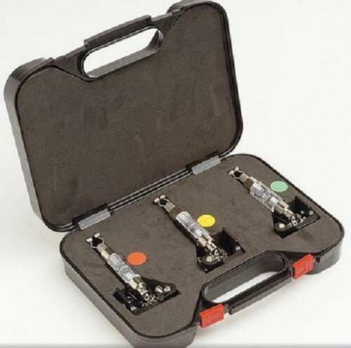 3 x Illuminated Drop off Bite Indicators in Protective Case For Carp Bite alarms