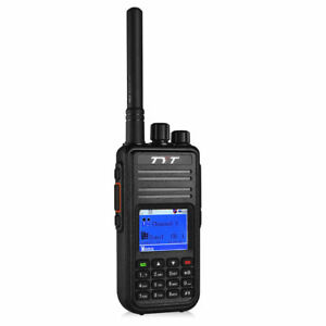 TYT-MD-380-VHF-2000mAh-battery-Digital-Two-Way-Radio-DMR-Walkie-Talkie-Cable