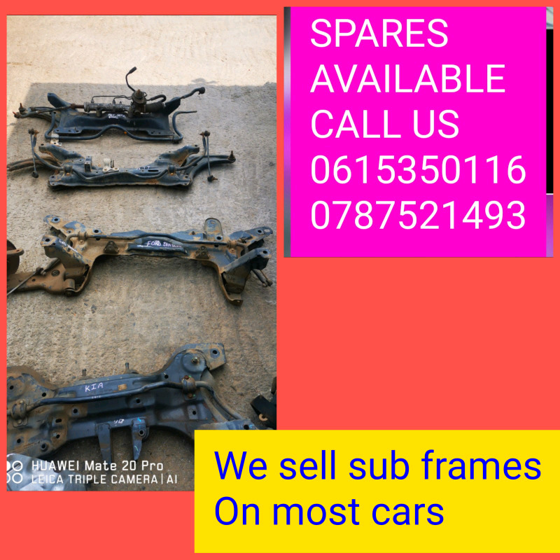 We sell sub frames for most cars