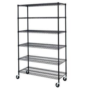 New-6-Tier-Wire-Shelving-Unit-NSF-Metal-Shelf-Rack-2100-LBS-Capacity-18-x48-x72