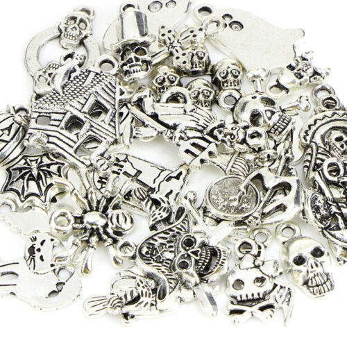 50PCS Bulk Lots Tibetan Silver Halloween Pendants Charms DIY Jewelry FindinF LD